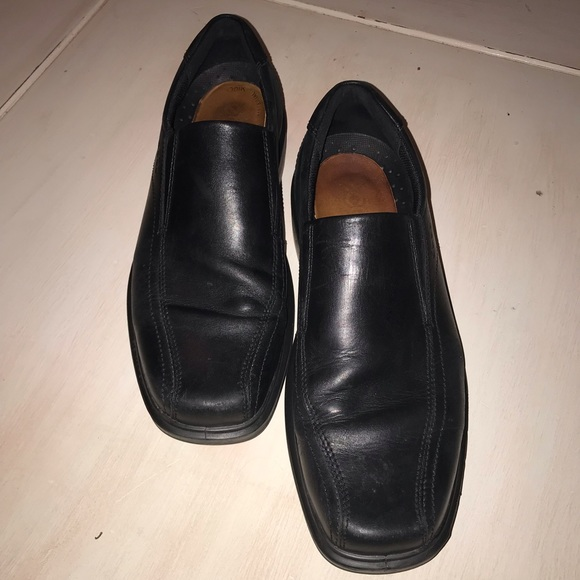 Ecco Shoes Mens Black Leather Dress Poshmark